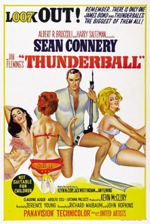 Thunderball, Sean Connery (Kneeling), 1965