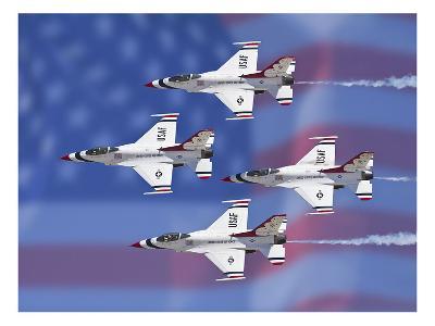 Thunderbirds 1-Michael Polk-Art Print