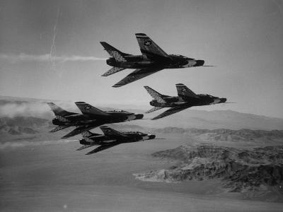 Thunderbirds in F-100's Flying in Formation-Ralph Crane-Photographic Print