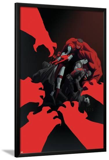 Thunderbolts #15 Cover: Elektra, Red Hulk, Deadpool, Punisher, Venom-Julian Totino Tedesco-Lamina Framed Poster