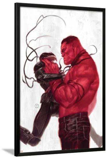 Thunderbolts #2 Cover: Red Hulk, Venom-Julian Totino Tedesco-Lamina Framed Poster