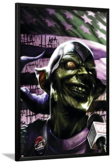 Thunderbolts No.129 Cover: Green Goblin-Francesco Mattina-Lamina Framed Poster