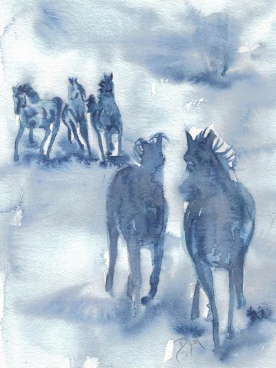 Thundering Hooves-Beverly Dyer-Art Print