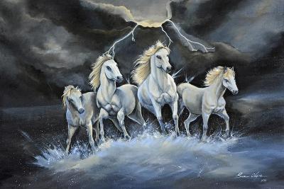 Thundering Horses-Sue Clyne-Giclee Print