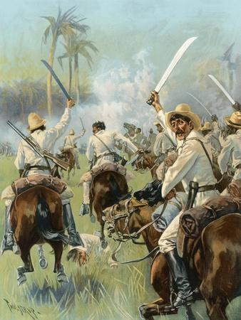 A Charge of Cuban Cavalry Armed with Machetes