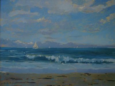 Thurlestone Beach-Jennifer Wright-Giclee Print