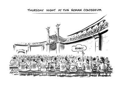 Thursday Night At The Roman Colosseum - New Yorker Cartoon-Ed Fisher-Premium Giclee Print