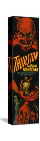"""Thurston """"Great Magician Show of the Universe"""" Poster-Lantern Press-Stretched Canvas Print"""