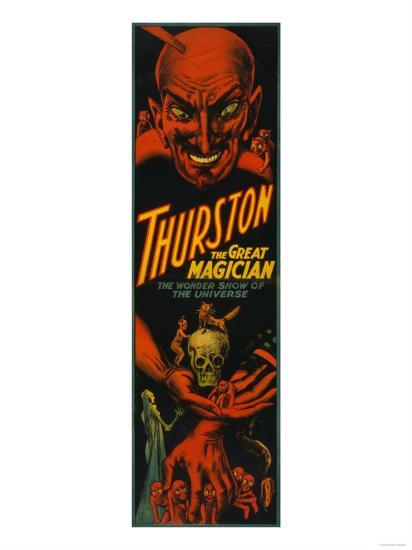 "Thurston ""Great Magician Show of the Universe"" Poster-Lantern Press-Art Print"
