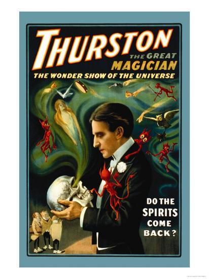 Thurston the Great Magician: Do the Spirits Come Back?--Art Print