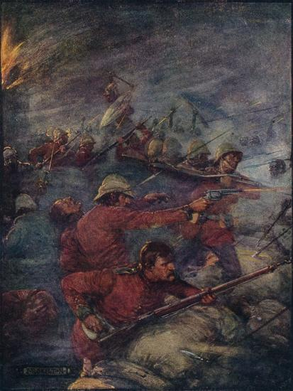 'Thus Did A Hundred Men Keep Three Thousand Savages At Bay', c1908, (c1920)-Joseph Ratcliffe Skelton-Giclee Print