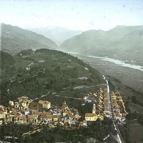 Thusis (Switzerland), Overview and the Valley of the Rhine, Circa 1865-Leon, Levy et Fils-Photographic Print