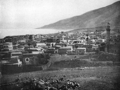 Tiberias and the Lake of Galilee, 1926--Giclee Print