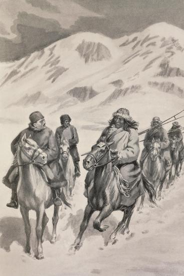 Tibetan People from Trans-Himalaya--Giclee Print