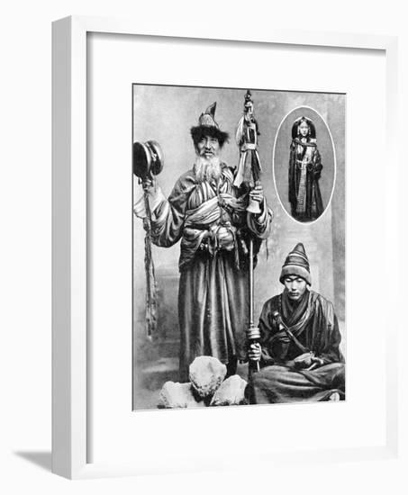 Tibetan Priests, 1936-Ewing Galloway-Framed Giclee Print