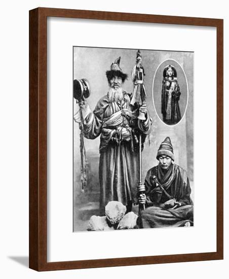 Tibetan Priests, 1936-Ewing Galloway-Framed Giclee Print