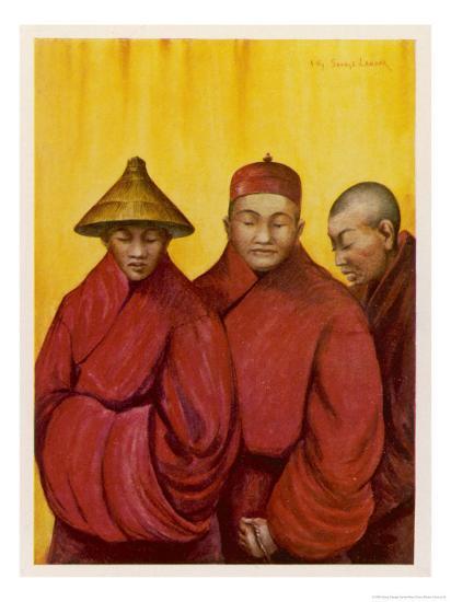 Tibetan Red Lamas-Henry Savage Landor-Giclee Print