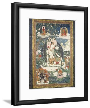 Tibetan Tanka Depicting Relaxed Buddhist Avalokitesvara