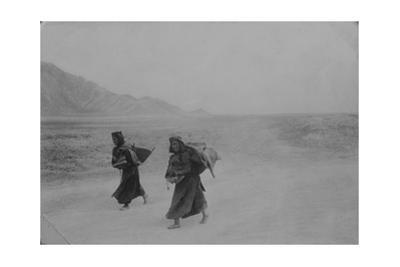 Tibetan Women Trudge to a Marketplace in Lhasa in 1905