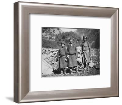 Tibetans of high rank, 1902-Arnold Henry Savage Landor-Framed Photographic Print