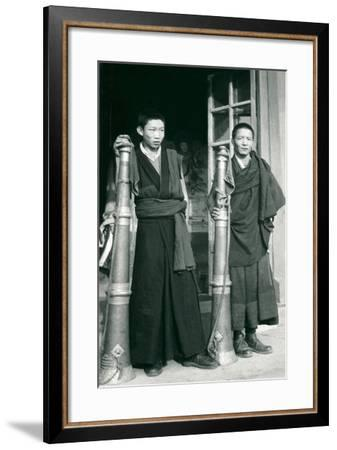 Tibetans with Trumpets--Framed Art Print