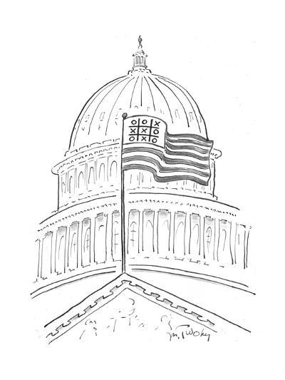 Tic Tac Toe at the Capitol Building - Cartoon-Mike Twohy-Premium Giclee Print