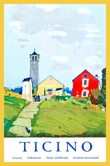 Ticino-Daniele Buzzi-Art Print