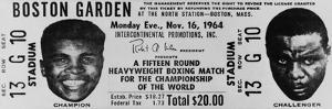 Ticket to World Championship Boxing Match Between Muhammad Ali and Sonny Liston