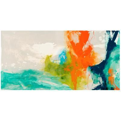 Tidal Abstract 1 - Free Floating Tempered Glass Panel Graphic Wall Art