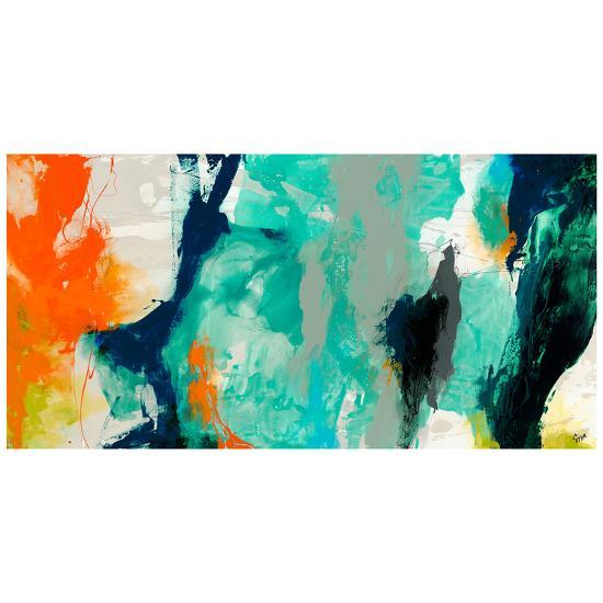 Tidal Abstract 2 - Free Floating Tempered Glass Panel Graphic Wall Art--Alternative Wall Decor