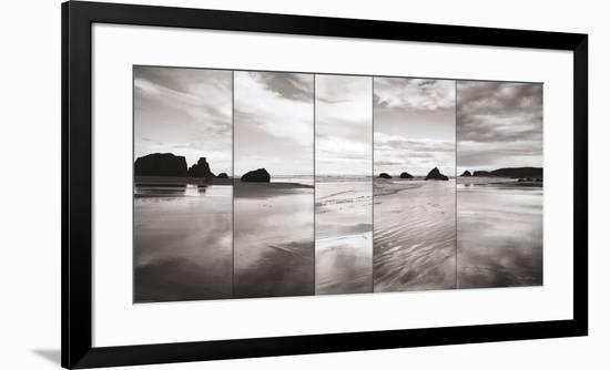 Tides on Bandon Beach-Alan Majchrowicz-Framed Art Print