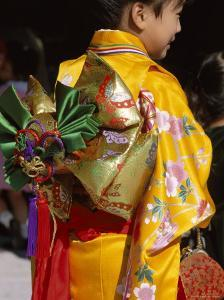 Tied Silk Sash (Obi), Kimono, Traditional Dress, Japan