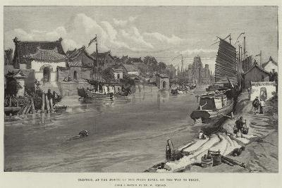 Tientsin, at the Mouth of the Peiho River, on the Way to Pekin-William 'Crimea' Simpson-Giclee Print