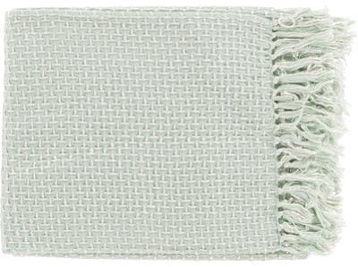 Tierney Throw - Soft Mint/Ivory