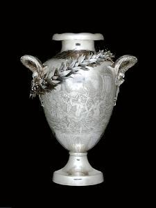 Yachting trophy, 1892 (silver) (see also 486988) by Tiffany & Company