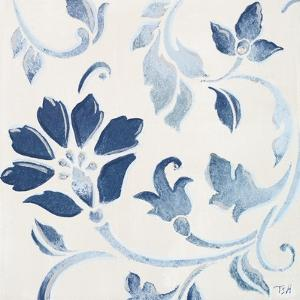 Blue Floral Shimmer I by Tiffany Hakimipour