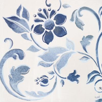 Blue Floral Shimmer II
