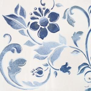 Blue Floral Shimmer II by Tiffany Hakimipour