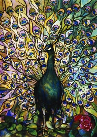Fine Peacock Leaded Glass Domestic Window