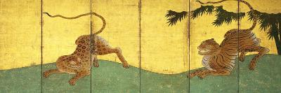 Tiger and Leopard Among Bamboo--Premium Giclee Print