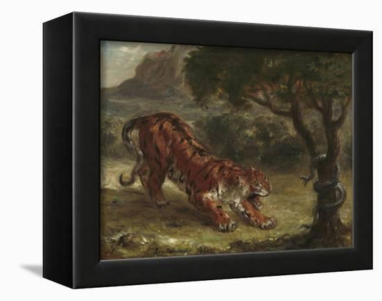 Tiger and Snake, 1862-Eugene Delacroix-Framed Premier Image Canvas