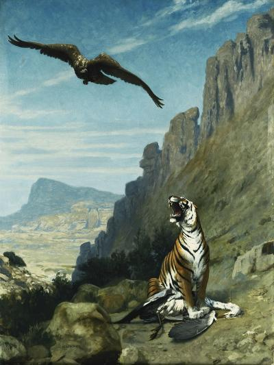 Tiger and Vulture-Jean Leon		 Gerome-Giclee Print