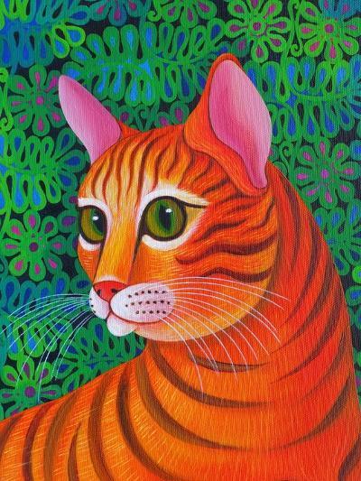Tiger Cat, 2012-Jane Tattersfield-Giclee Print