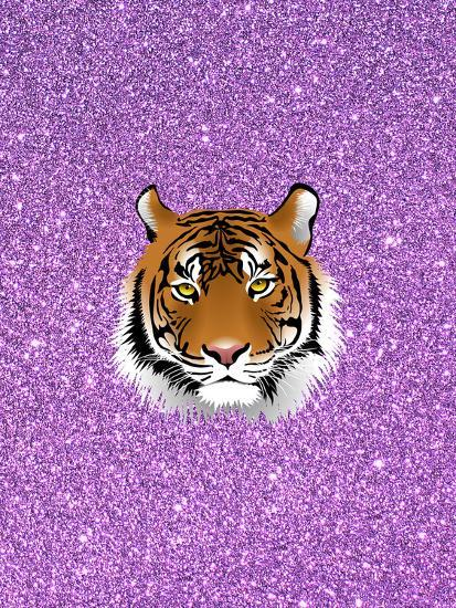 Tiger Cat With Purple Glitter-Wonderful Dream-Art Print