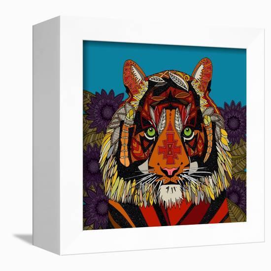 Tiger Chief Blue-Sharon Turner-Framed Stretched Canvas Print