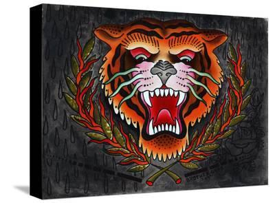 Tiger Head- Brother Greg-Stretched Canvas Print