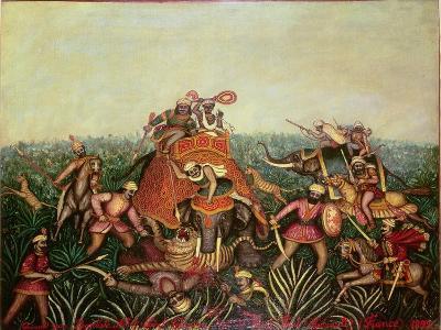 Tiger Hunt, 1892-Jean-baptiste Guiraud-Giclee Print