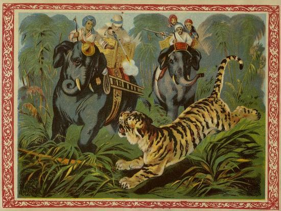 Tiger Hunt--Giclee Print