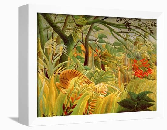 Tiger in a Tropical Storm (Surprised!) 1891-Henri Rousseau-Framed Stretched Canvas Print