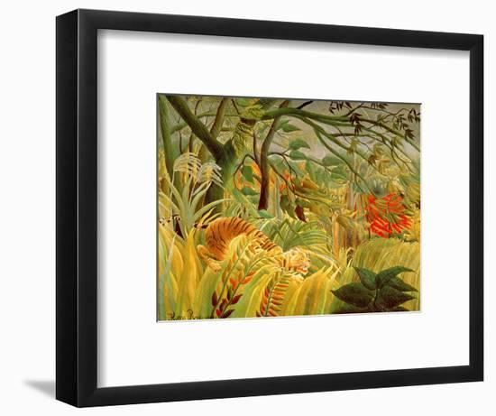 Tiger in a Tropical Storm (Surprised!) 1891-Henri Rousseau-Framed Premium Giclee Print